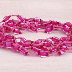 cube beads yarn bracelet